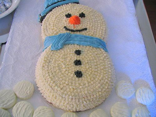 snowman cake without coconut! | Cakes | Pinterest