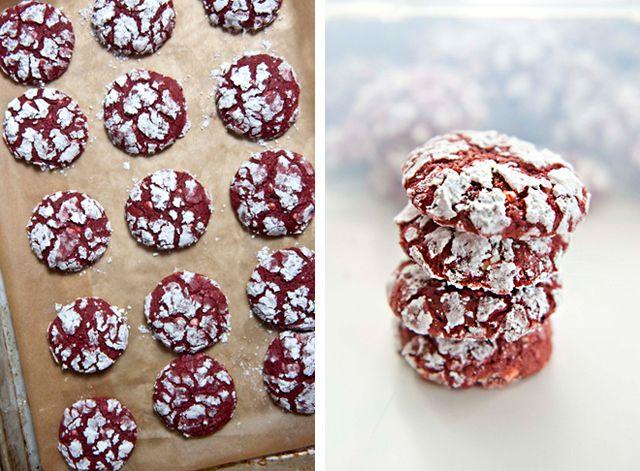 red velvet crinkle cookies | Baking Ideas | Pinterest