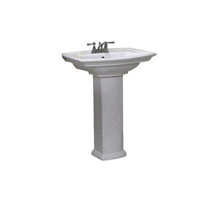 ... Washington 550 Pedestal Lavatory Sink with 4 Inch Centers 22 x 16.5