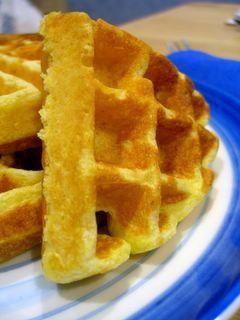 Cornmeal Waffles with a Hint of Lemon | Baking Bites