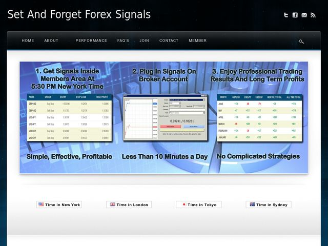 Set and forget forex system