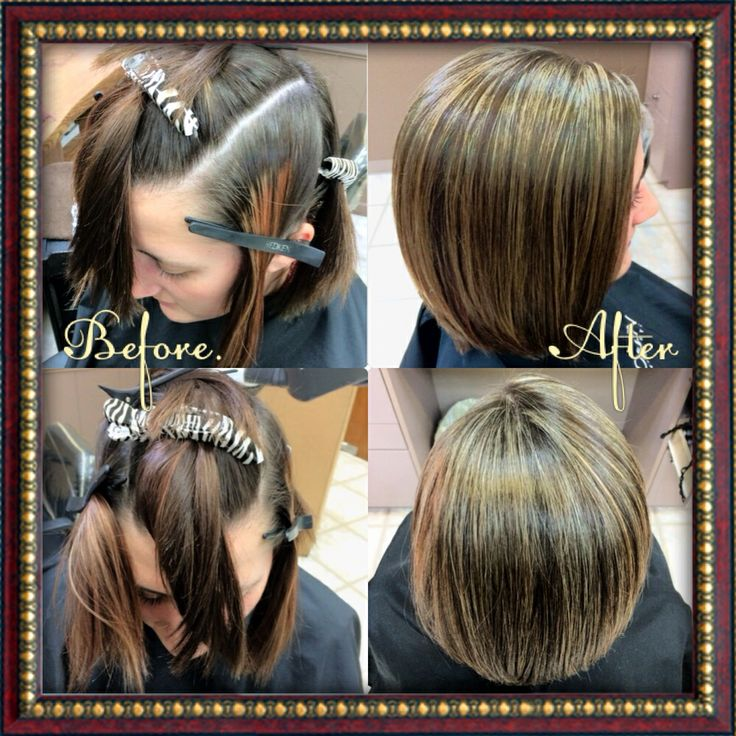 Redken Eq Gloss Before And After  Dark Brown Hairs