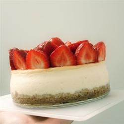 Two Step Creamy Cheesecake Recipe I add vanilla and fold in berries ...