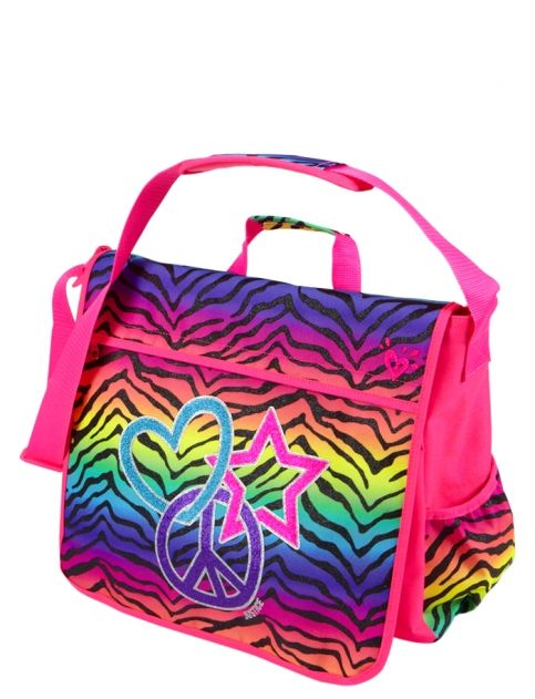 Gradient Zebra Messenger Bag | Girls Messengers Backpacks & School ...
