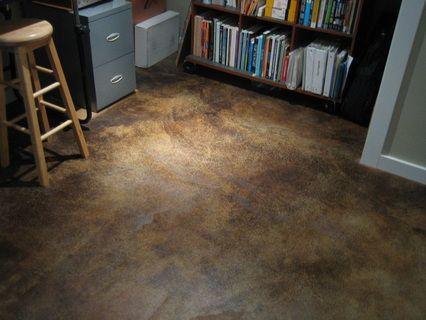 Concrete acid stain house basement pinterest for Acid wash concrete floors