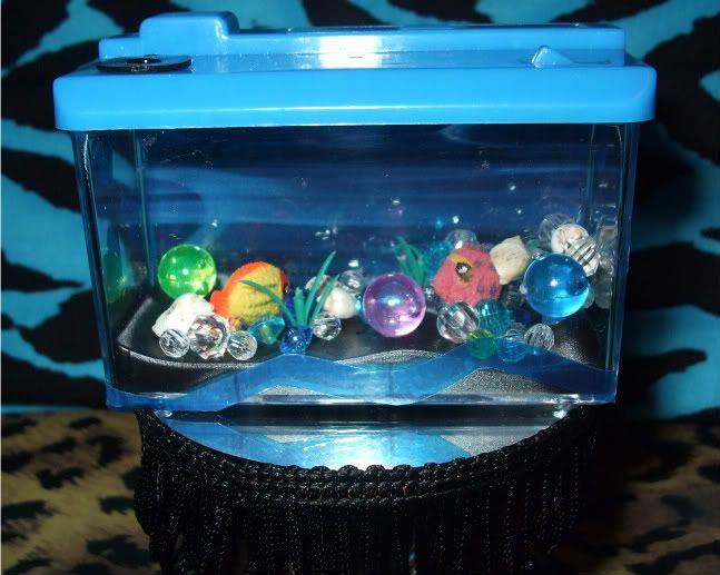Monster high or barbie doll house fish tank aquarium for Fish tank furniture