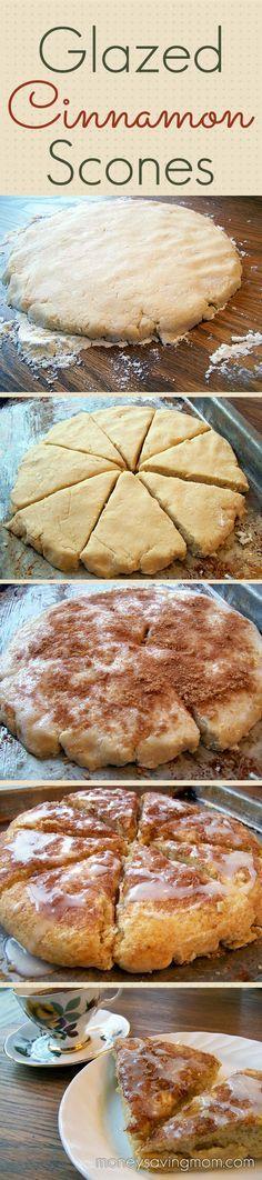 Glazed Cinnamon Scones Recipe   Food I'd like to make or eat!   Pinte ...