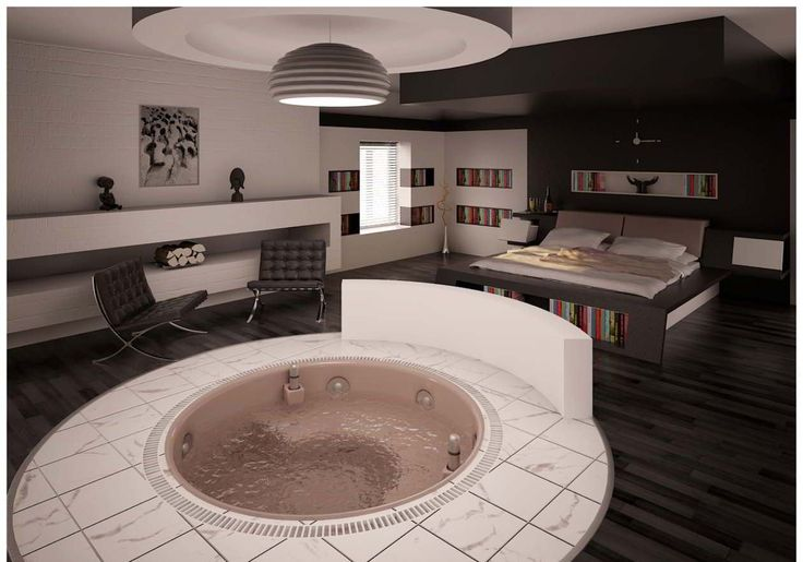Hot Tub In Mah Bedroom Interior Bliss Pinterest