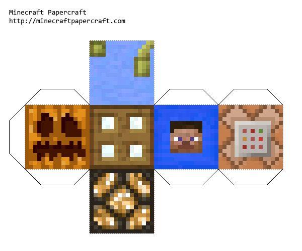 Papercraft minecraft dice V2 | Party ideas | Pinterest