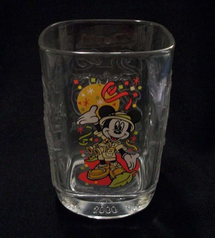 McDONALD'S Drinking Glass- Walt Disney's Animal Kingdom. Features Safari Mickey Mouse. Excellent Pre-Owned Condition! $14.95 obo (Free S&H)