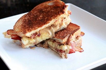 need to try this! Peanut butter, banana, and bacon sandwich. All the ...