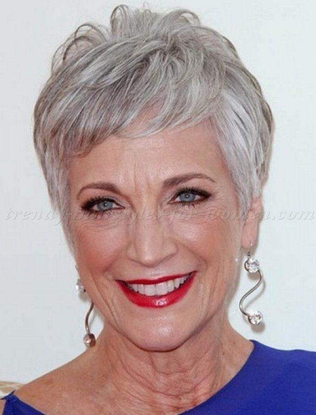 Прическа женщине на короткие волосы на 60 лет