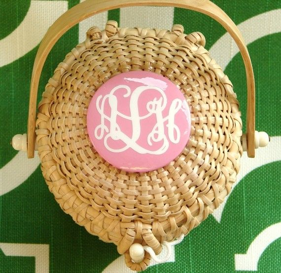 monogram nantucket basket.