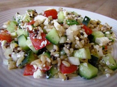 Quinoa, Tomato & Cucumber Salad | fruit/veggie trays | Pinterest