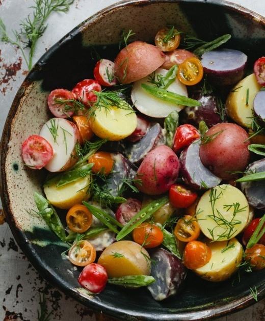 Potato Salad with Horseradish Aioli http://www.fabulishliving.blogspot ...