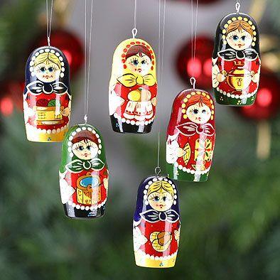 Russian Girls Christmas Ornaments Set | Matryoshka | Pinterest