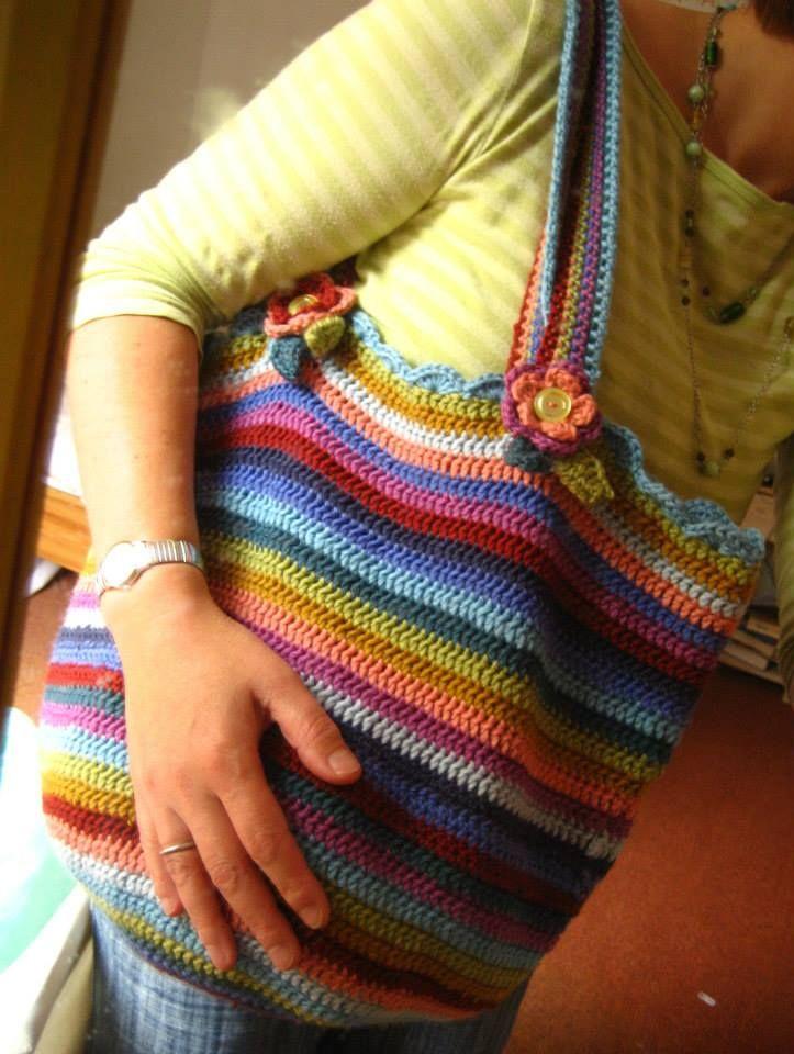 crocheted shopping bag Crafty stuff Pinterest