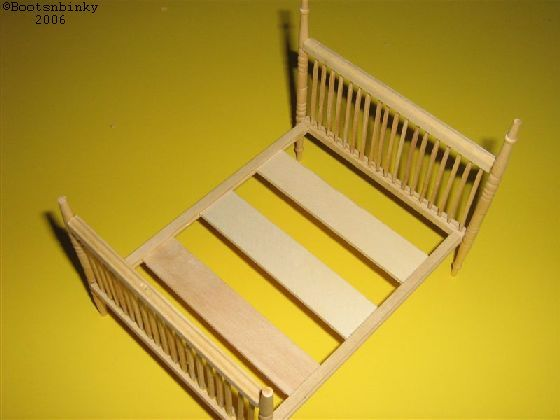 miniature bed tutorial