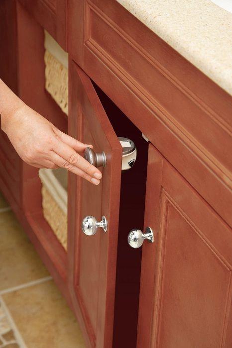 child safety cabinet locks no drilling children safety pinterest. Black Bedroom Furniture Sets. Home Design Ideas