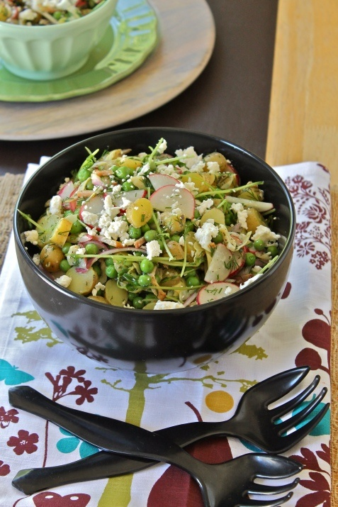 egg potato salad with bacon egg and tarragon dressing potato salad ...
