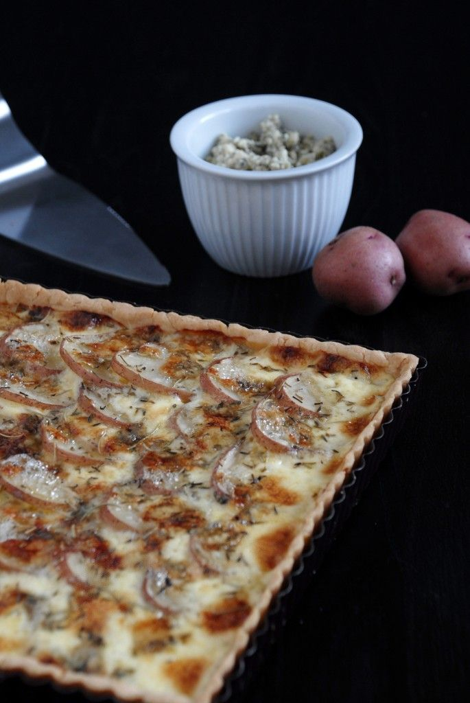 This Blue Cheese & Red Potato tart was super simple to make and super ...