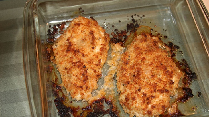 Baked Parmesan Crusted Chicken Breast | food | Pinterest