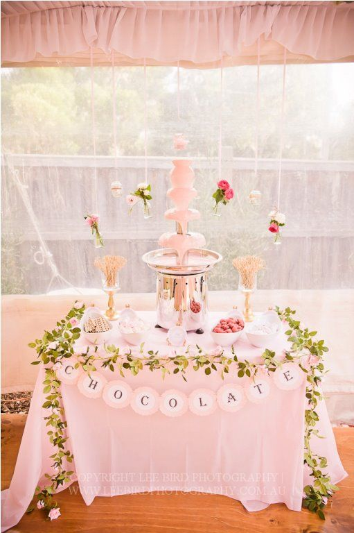 An Ordinary Girl's Glitz and Glam: Vow Renewal Pink Chocolate Fountain Wedding