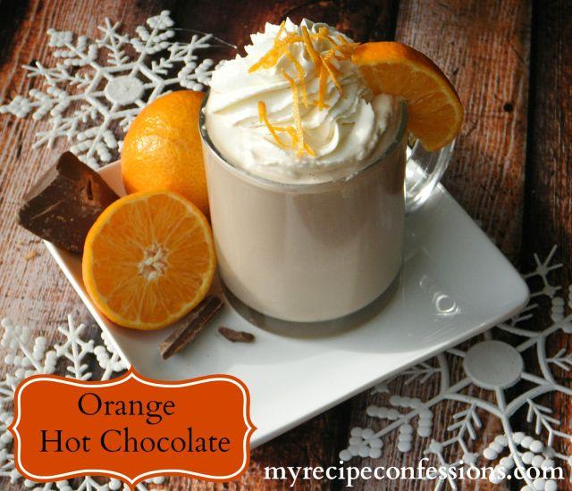 orange hot chocolate | Coffee, Tea, Lattes and Hot Cocoa | Pinterest