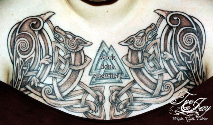 wolf tattoosOdins Ravens Tattoo