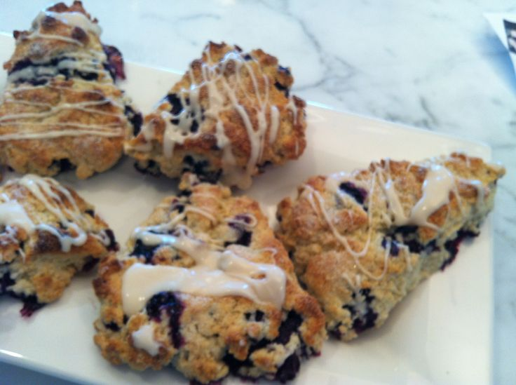 Fresh blueberry almond glazed scones | Love what you eat, eat what yo ...