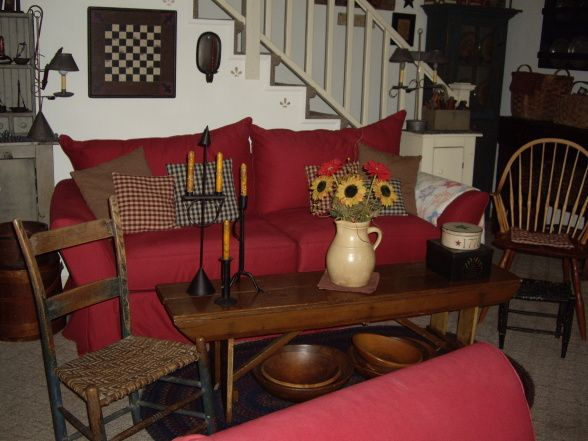 Primitive Country And Folk Art Living Room Designs Decorating Ideas