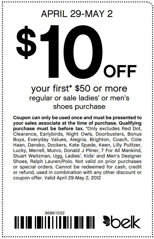 Belk coupon code $10 off
