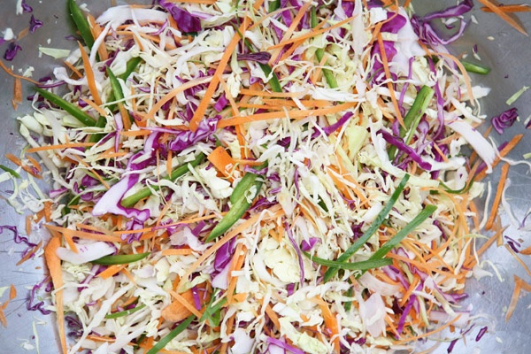 Spicy slaw with jalapeno dressing. | ...in da' hood!!! | Pinterest