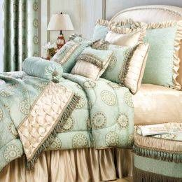 Turquoise and gold bedding aguamarina shabby chic love for Home decorating company