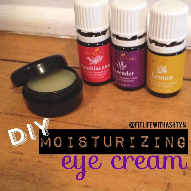 DIY moisturizing eye cream