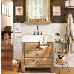 Do you love the look of rustic, reclaimed wood or barn wood bathroom ...