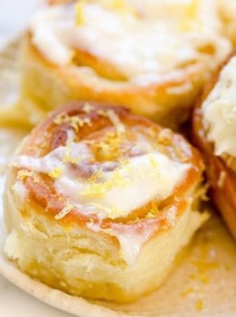 Sticky Lemon Rolls with Lemon Cream Cheese Glaze   Kitchen Output ...