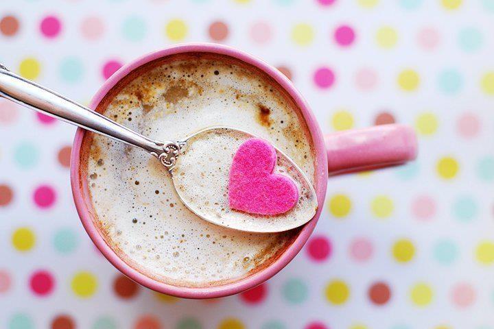 Pink Heart Coffee