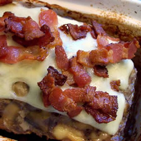 Bacon Mushroom Swiss Meatloaf-Low Carb if you leave out the cornflake ...