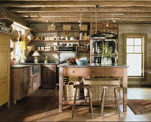Best Nice Simple Unfitted Kitchen Old Fashioned Interiors 400 x 300