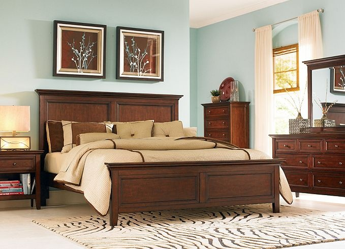 Furniture Ashebrooke Queen Panel Bed Bedroom Furniture Havertys