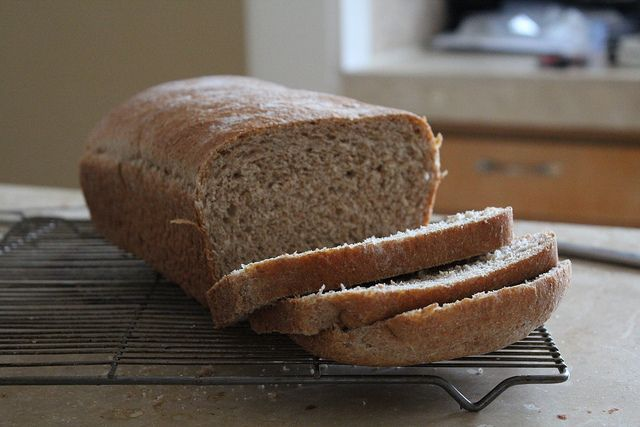 honey whole-wheat bread by themoveablefeasts, via Flickr