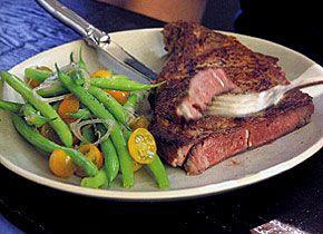 Rib Steaks With Spice Rub and Green Bean Salad Recipe - Saveur.com
