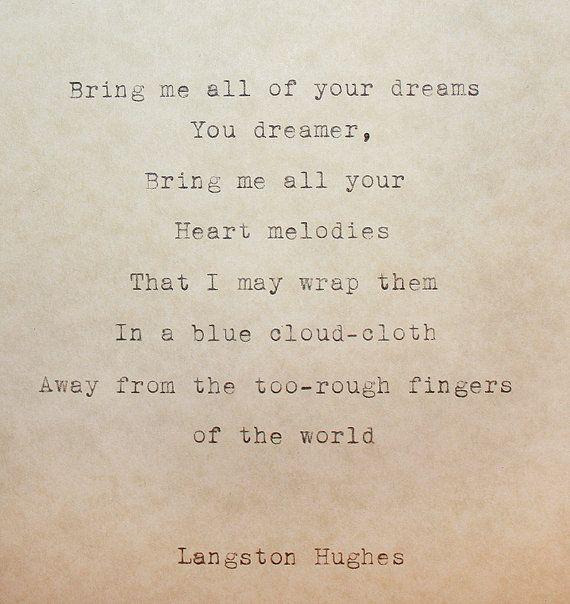 Poem the dream keeper langston hughes original life poem p