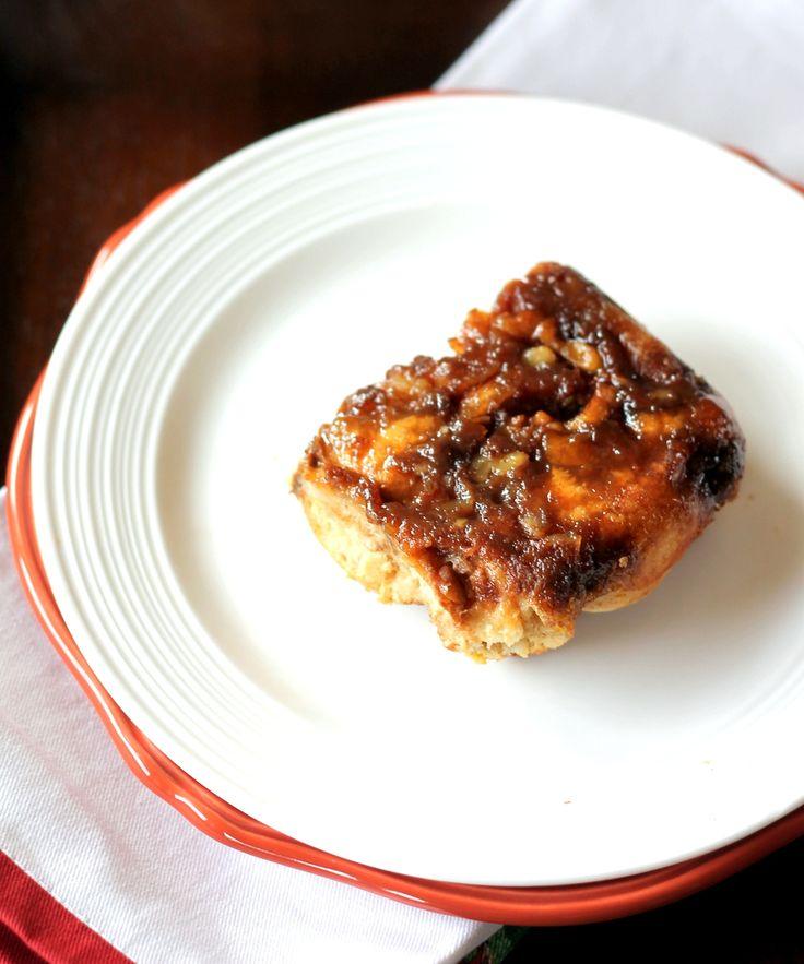 Upside-Down Orange Caramel Pecan French Toast Bake | Recipe