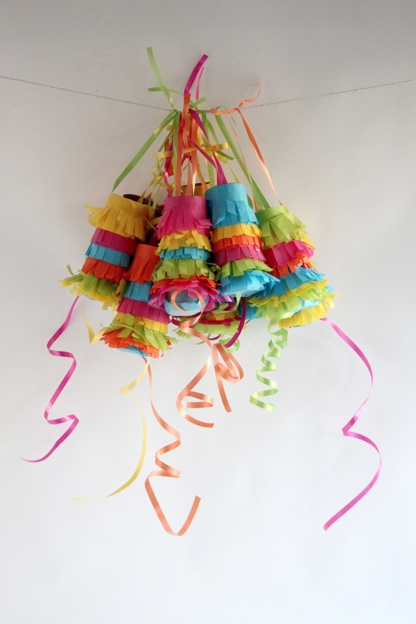 Individual Pinatas - Mexico (collect pringles cans -- short ones!! they take less filling)
