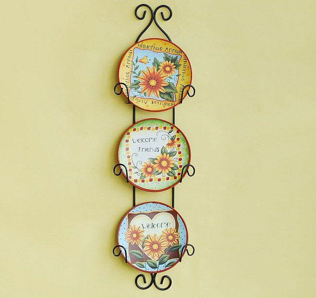 Wall Decor Plates Hang Wall : Hanging decorative wall plates home decor art