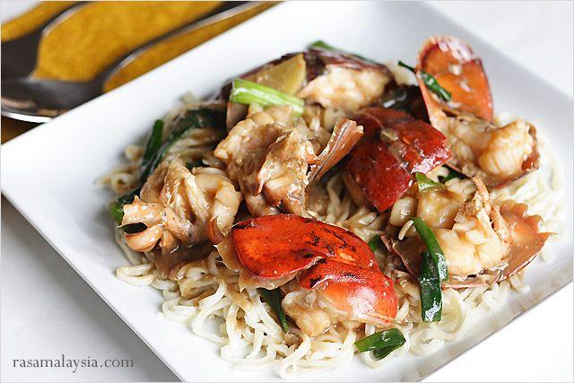 Lobster Yee Mein (Lobster Noodles) Recipe #seafood