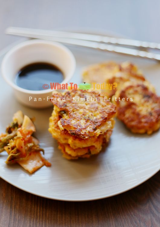 Pan-Fried Kimchi Fritters--oh my god, these look so amazing.