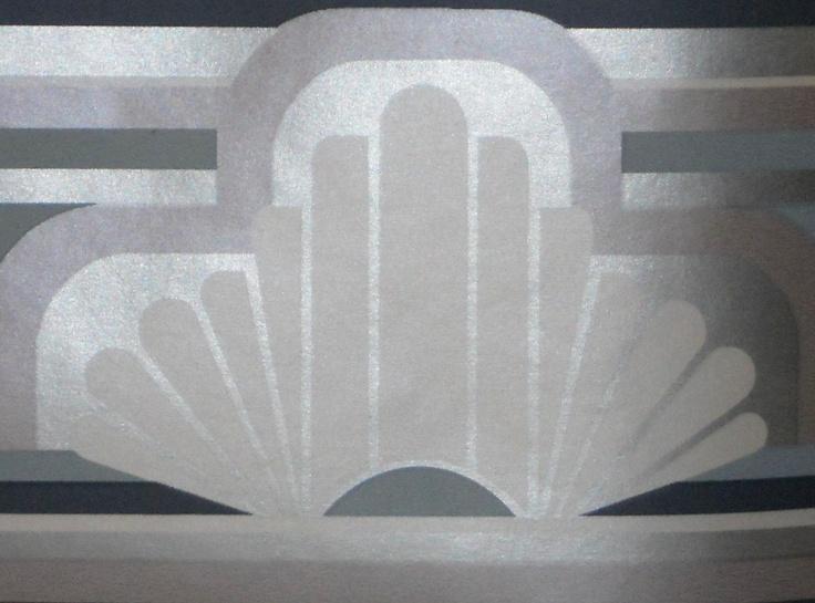 Art Deco Structural Design Wallpaper Borders 4 Rolls Vintage. $15.98 ...